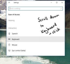 keyboard fixes