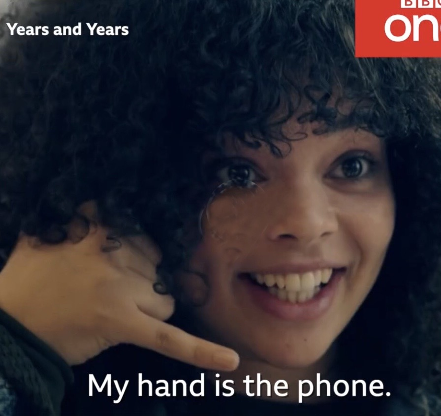 can you put a smart phone into your hand